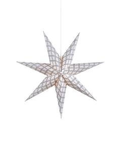 Grafik Pappersstjärna Grå/vit