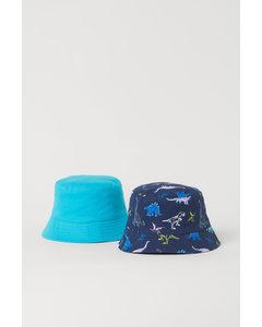 2er-Pack Sonnenhüte Marineblau/Dinosaurier