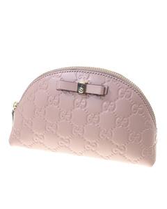 Gucci Guccissima Cosmetic Case Pink