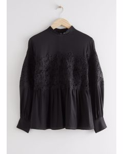 Romantic Lace Blouse Black