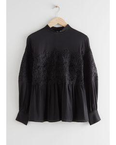 Romantic Lace Blouse Black