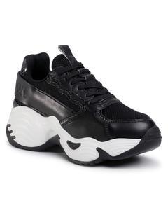 Sneakers Flats Zwart Donkergroen