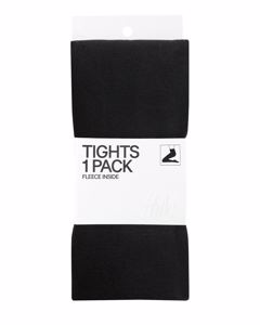 Fleece 1 P Tights Black
