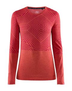 Cool Comfort She Rn Ls W - Jam Melange-pink-s