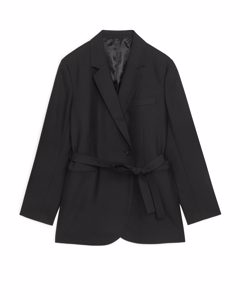 Belted Blazer Black