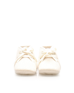 Hermes Cashmere Baby Shoes Brown