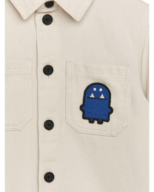 Arket Monster Bagde Overshirt Off White
