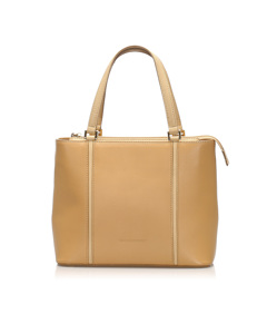 Burberry Leather Tote Bag Brown