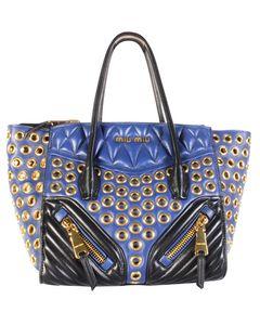 Blue Biker Bag