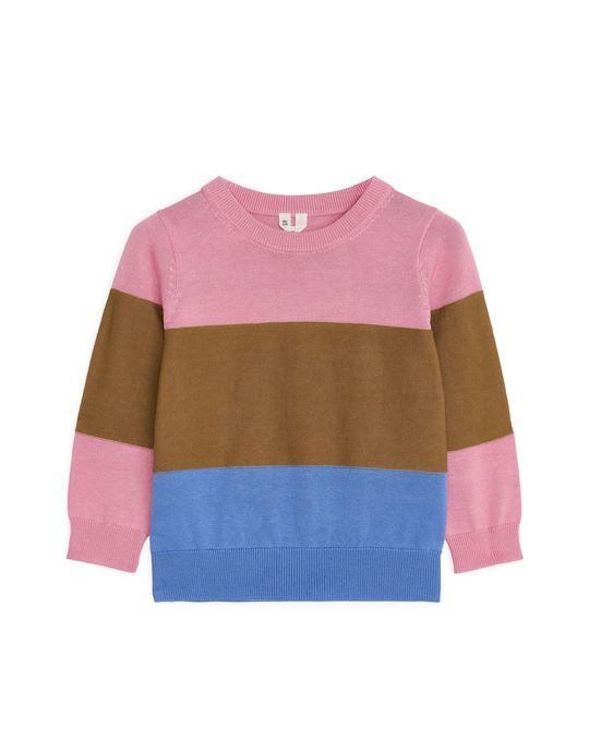 Arket Patterned Jumper Pink/Colour-Blocked