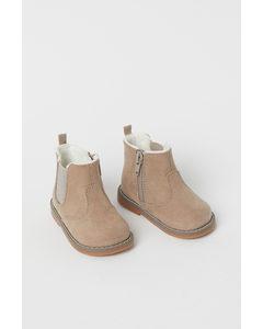 Varmfodrade Boots Beige
