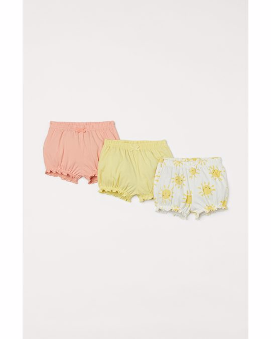 H&M 3-pack Puff Pants White/sunbursts
