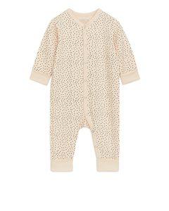 All-in-one Pyjama Beige/dots