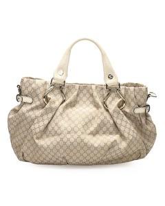 Celine Macadam Canvas Handbag Gray