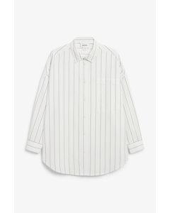 Oversized Cotton Shirt Black And White
