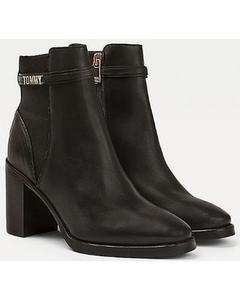 Block Branding High Heel Boot