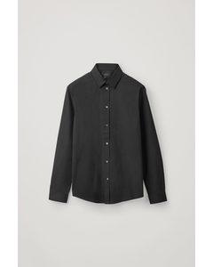 Organic Cotton Classic Slim Fit Shirt Black