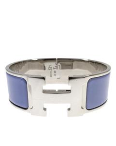 Hermes H Bracelet Bangle Silver