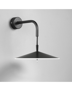 Licht Van De Muur 20 Cm Diameter Black Lacquer 3 X 5 W