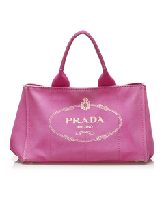 Prada Canapa Handbag Pink