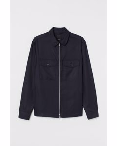 Skjortjacka I Twill Mörkblå