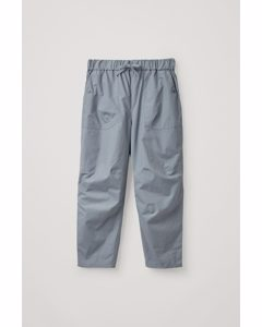Loose Cotton Trousers Turquoise
