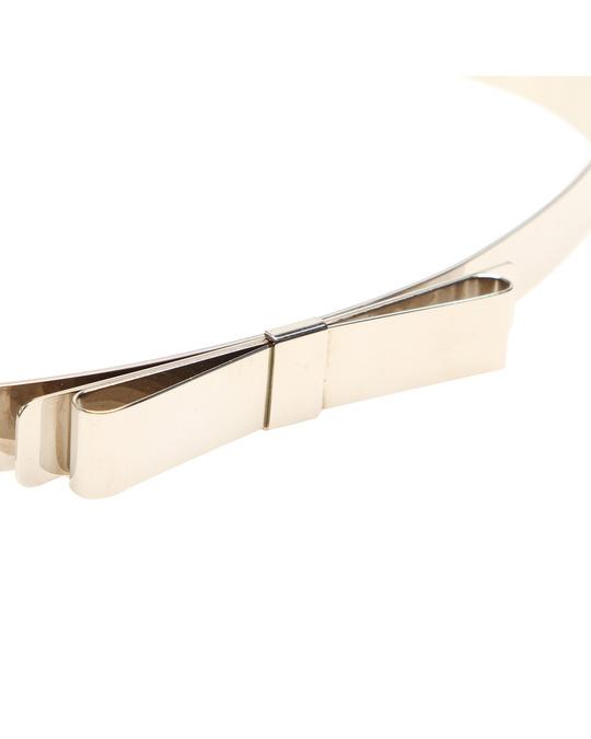 MIU MIU Miu Miu Ribbon Leather Belt Silver