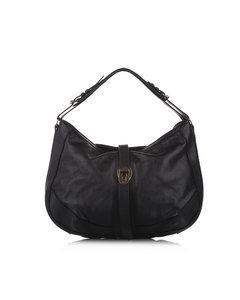 Burberry Leather Hobo Bag Black