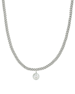 Lourdes Cz Necklace Steel