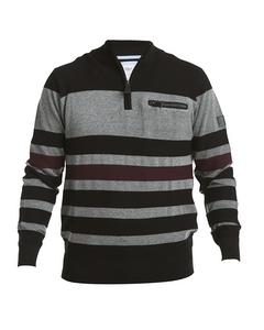 Blockstripe Half Zip Sweater