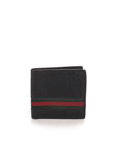 Gucci Guccissima Web Bifold Wallet Black