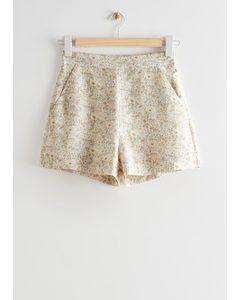 Shorts mit Blumenmuster Beige/Geblümt