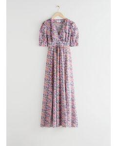 Floral Print Maxi Dress Pink Florals