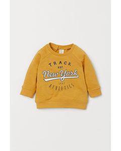 Sweatshirt I Bomull Gul/new York