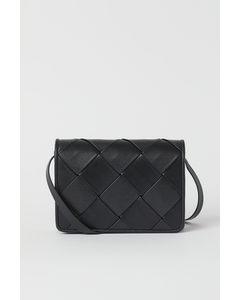 Braided Shoulder Bag Black