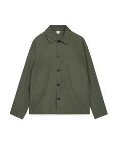 Ripstop Overshirt Khaki Green