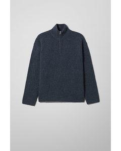 Rey Halfzip Sweater Navy Blue