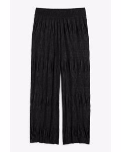 Pleated Trousers Black