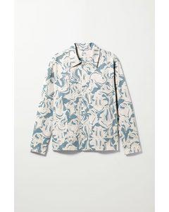 Roland Warp Overshirt White & Blue