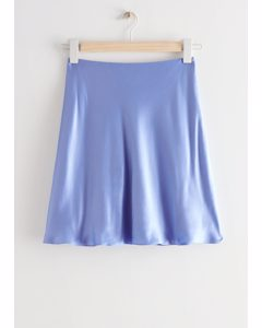 Satin Mini Skirt Lilac