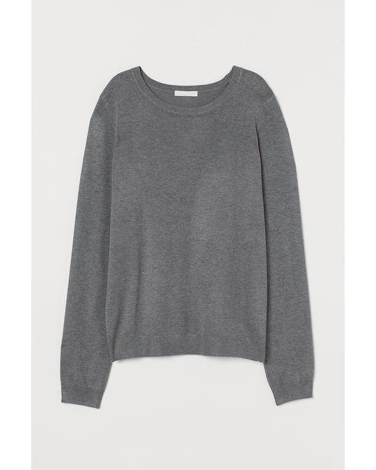 H&M Fine-knit jumper Grey