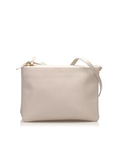 Celine Trio Leather Shoulder Bag Gray