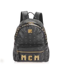Mcm Trilogie Leather Backpack Black