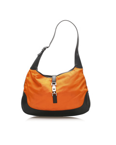 Gucci Jackie Nylon Shoulder Bag Orange