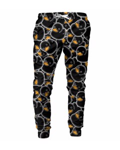 Mr. Gugu & Miss Go Black Rubber Duck Unisex Sweatpants Smooth Black