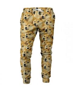 Mr. Gugu & Miss Go Doge Unisex Sweatpants Goldenrod Brown