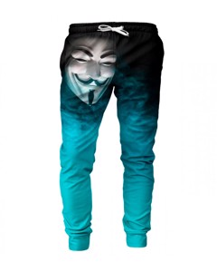 Mr. Gugu & Miss Go Anonymous Face Unisex Sweatpants Mysterious Cyan