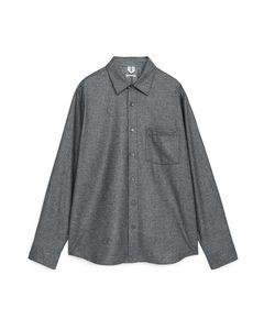 Wool Flannel Overshirt Grey