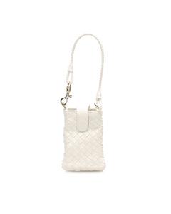 Bottega Veneta Intrecciato Leather Handbag White