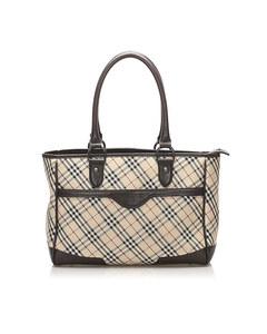 Burberry Nova Check Canvas Handbag Brown